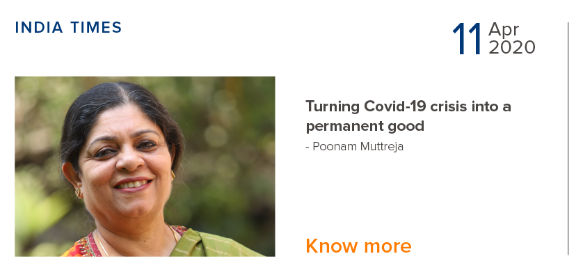 Turning COVID-19 crisis into a permanent good - Poonam Muttreja