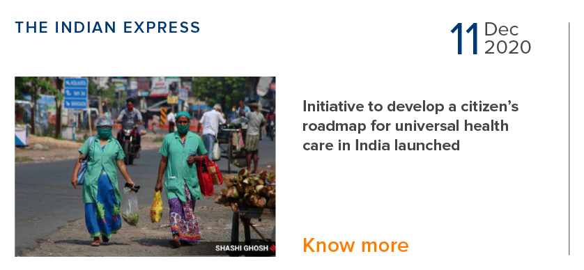 Initiative to develop a citizen's roadmap for universal healthcare in India launched