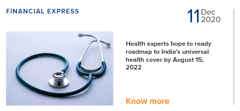Health experts hope to ready roadmap to India's universal health cover by August 15,2022