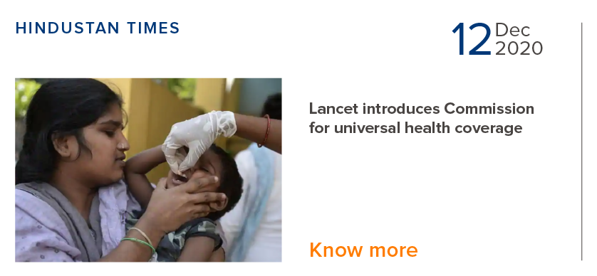 Lancet introduces Commission for universal health coverage