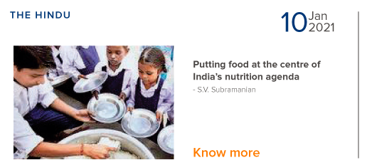 Putting Food at the centre of India's nutrition agenda - S.V. Subramanian