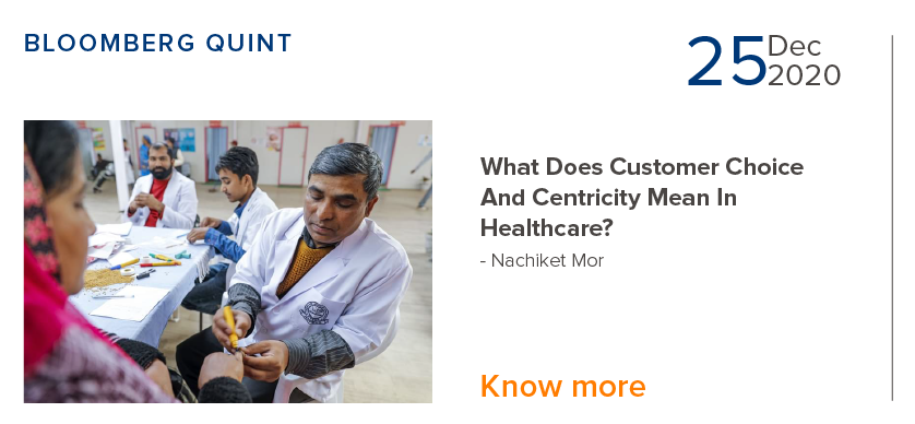 Customer Choice & Centricity Mean in Healthcare - Nachiket Mor