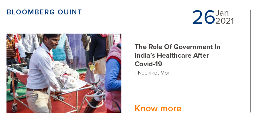 Role of Government in India's Healthcare After Covid-19 - Nachiket Mor