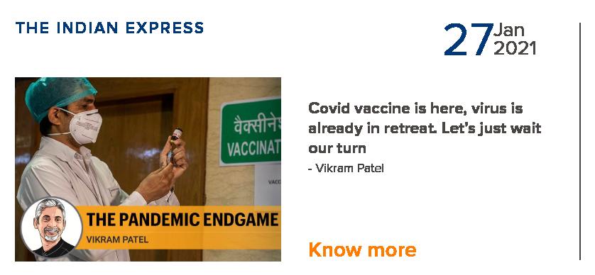 Covid vaccine is here & already in retreat - Vikram Patel