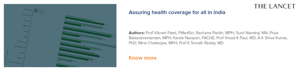 Assuring health coverage for all in India