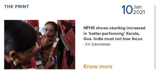 NFHS shows stunting increased in 'better-performing' Kerala, Goa - S.V. Subramanian
