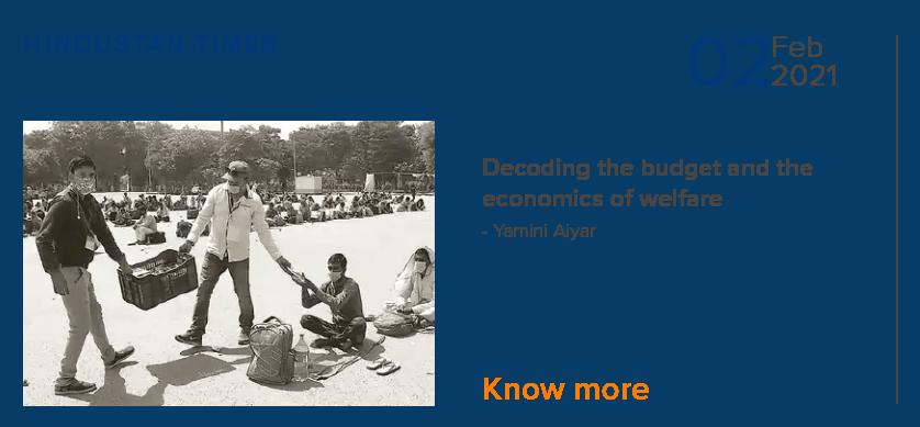 Decoding the budget & the economics of welfare - Yamini Aiyar