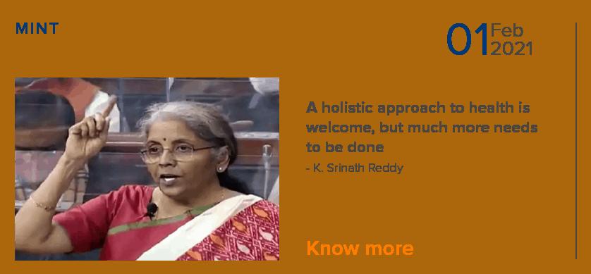 Holistic approach to health by K. Srinath Reddy