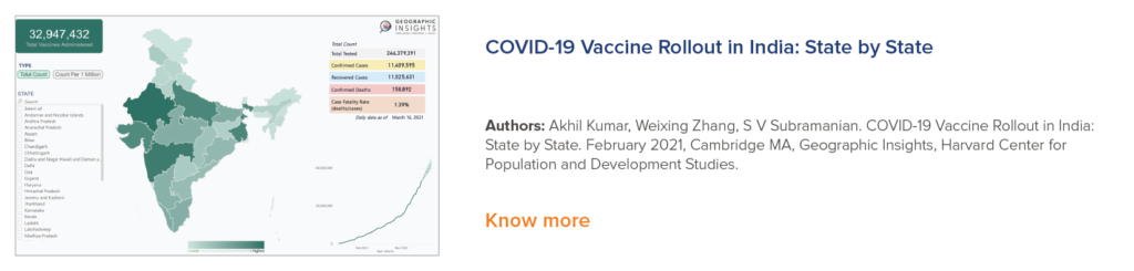 COVID-19 Vaccine Rollout in India: State by State